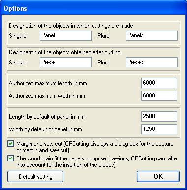 Options For Panels Cutting Optimization