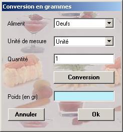Module De Conversion Volume Poids De CalorieZ - Convertisseur cuisine